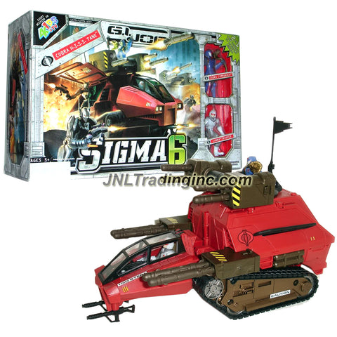 Year 2006 G.I. JOE Sigma 6 Series 10 Inch Long Vehicle Set - COBRA H.I.S.S. TANK that Converts to Bunker with Cobra Commander and Cobra Trooper