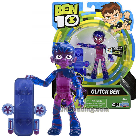 Cartoon Network Year 2018 Ben 10 Series 4 Inch Tall Figure - GLITCH BEN with Hover Board