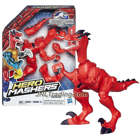 Hasbro Year 2015 Jurassic World Hero Mashers 6 Inch Tall Dinosaur Figure - VELOCIRAPTOR with Detachable Arms, Legs and Tail