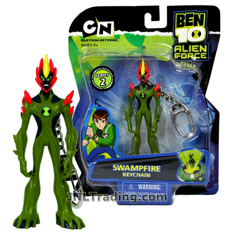 Cartoon Network Year 2008 Ben 10 Alien Force Series 4 Inch Tall Keychain Figure - SWAMPFIRE