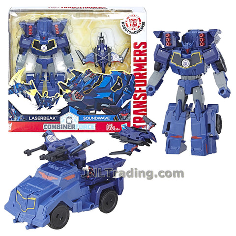 Transformers Year 2016 Robots in Disguise Combiner Force Series 5-1/2 Inch Tall Figure Activator Set - SOUNDWAVE (7 Step Changer) with LASERBEAK (1 Step Changer)