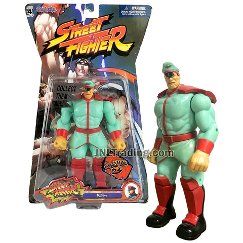 Year 2005 Capcom Street Fighter Series 7 Inch Tall Figure - BISON (Player 2) in Light Green Outfit