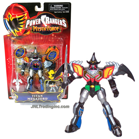 Bandai Year 2006 Power Rangers Mystic Force Series 6-1/2 Inch Tall Zord Action Figure - TITAN MEGAZORD with Light Up Armor, Detachable Garuda Zord as Wing, Sword and Special Card