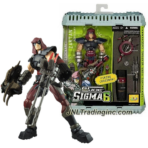 Hasbro Year 2006 G.I. JOE Sigma 6 Classified Series 8 Inch Tall Action Figure - Mercenary ZARTAN with Hideburner, Bushranger, Quiver, Crossbow with 1 Arrow and Weapons Case