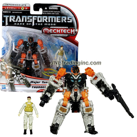 "Hasbro Year 2010 Transformers Movie Series 3 ""Dark of the Moon"" Human Alliance Triple Changer 4-1/2 Inch Tall Robot Action Figure Set - Major Tungsten with Autobot THUNDERHEAD (Alternative Mode: Spider Tank Mobile Weapon and Mech-Suit)"