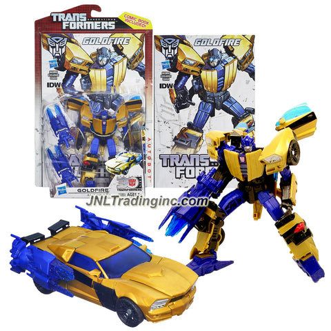 "Hasbro Year 2013 Transformers Generations ""Thrilling 30"" Series Deluxe Class 6 Inch Tall Robot Action Figure #010 - Autobot GOLDFIRE with Blaster and Comic Book (Vehicle Mode: Sports Car)"