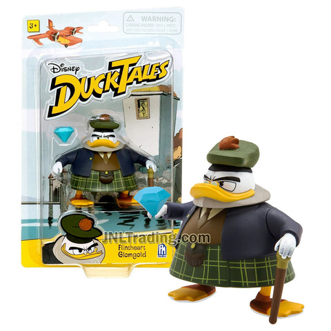 Disney DuckTales Series 3-1/2 Inch Tall Figure - FLINTHEART GLOMGOLD with Walking Stick and Diamond