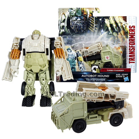 Transformers Year 2016 The Last Knight Movie Series 1 Step Changer 5 Inch Tall Figure - AUTOBOT HOUND (Vehicle Mode: Truck)