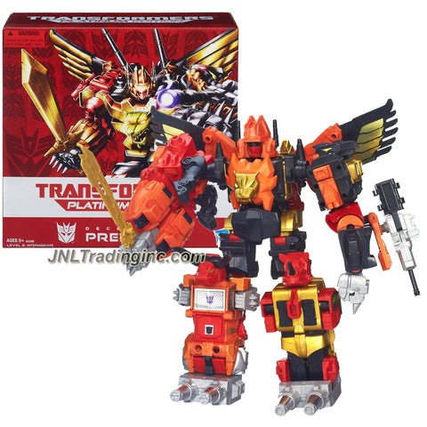 "Hasbro Year 2013 Transformers Generations ""Thrilling 30"" Series Platinum Edition 11 Inch Tall Robot Action Figure #10 of 30 - Decepticon PREDAKING (Combination of Predacon Divebomb, Predacon Razorclaw, Predacon Rampage, Predacon Torox and Predacon Headstrong) with Sword and Blaster"