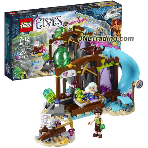 Lego Year 2016 Elves Series Set #41177 - THE PRECIOUS CRYSTAL MINE with Naida and Farran Minifigures Plus Floria the Baby Earth Dragon (Pieces: 273)