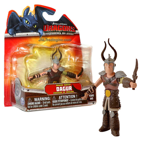 "Spin Master Year 2013 Dreamworks Movie Series ""DRAGONS - Defenders of Berk"" 4 Inch Tall Action Figure - Dragon Hunter DAGUR with 2 Daggers"