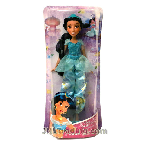Disney Year 2017 Princess Royal Shimmer Series 12 Inch Doll Set - JASMINE E0277 in Blue Gown with Tiara
