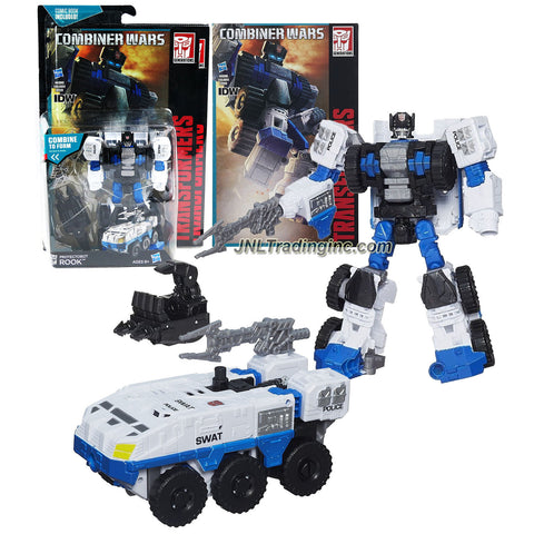 Hasbro Year 2014 Transformers Generations Combiner Wars Series 6 Inch Tall Robot Figure - Autobot Protectobot ROOK with Blaster, Defensor's Right Hand and Comic Book (Vehicle Mode: SWAT Armor Car)