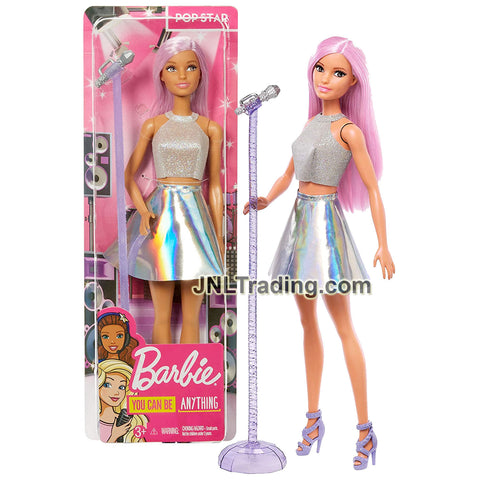 Year 2018 Barbie Career You Can Be Anything Series 12 Inch Doll - Caucasian POP STAR with Microphone