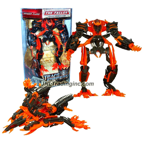 "Hasbro Year 2009 Transformers Movie Series 2 ""Revenge of the Fallen"" Exclusive Voyager Class 8 Inch Tall Robot Action Figure - Decepticon THE FALLEN (Orange Color) with Slide Out Energy Absorption Panels (Vehicle Mode: Cybertronian Destroyer)"
