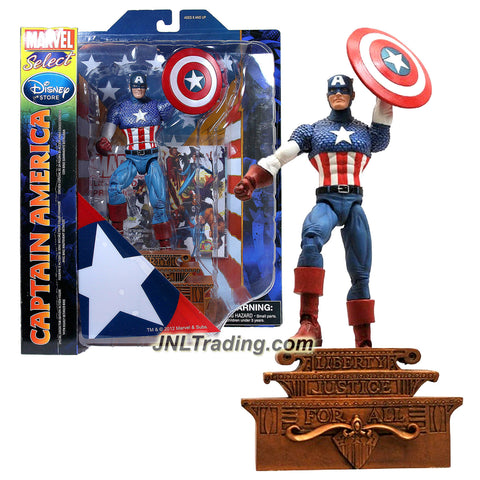 Diamond Select Toys Year 2012 Marvel Select Special Collector Edition 7 Inch Tall Action Figure - CAPTAIN AMERICA with Shield & Highly Detailed Base