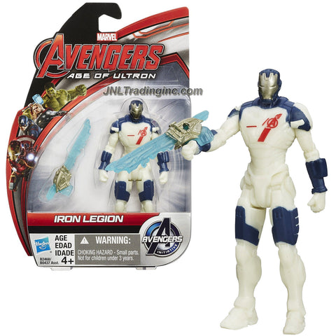 Hasbro Year 2015 Marvel Avengers Age of Ultron Series 4 Inch Tall Action Figure - IRON LEGION with Energy Sword