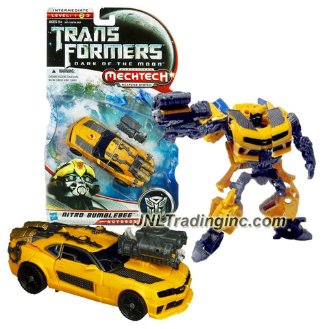 Hasbro Year 2010 Transformers Movie Dark of the Moon Series Deluxe Class 6 Inch Tall Robot Figure - NITRO BUMBLEBEE with Boost Engine that Change to Plasma Cannon (Vehicle Mode: Camaro Concept)