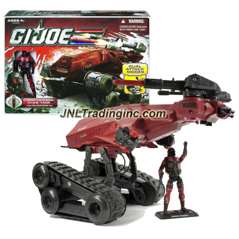 Hasbro Year 2010 G.I. JOE A Real American Hero 30th Anniversary Series Action Vehicle Set - COBRA CRIMSON H.I.S.S. TANK with Gatling Gun, Firing Cannon and Interchangeable Weapons Plus Cobra Crimson Horseman Figure