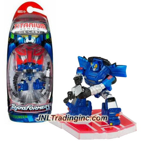 Hasbro Year 2006 Transformers Titanium Die Cast Series 3 Inch Tall Robot Action Figure - Autobot SMOKESCREEN with Blaster Gun and Display Base (Figure is not Transformable)