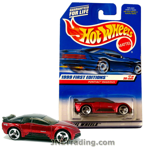 Hot Wheels Year 1999 First Editions Series 1:64 Scale Die Cast Car Set #7 - Red Color 4 Door Concept Car PONTIAC RAGEOUS 18851