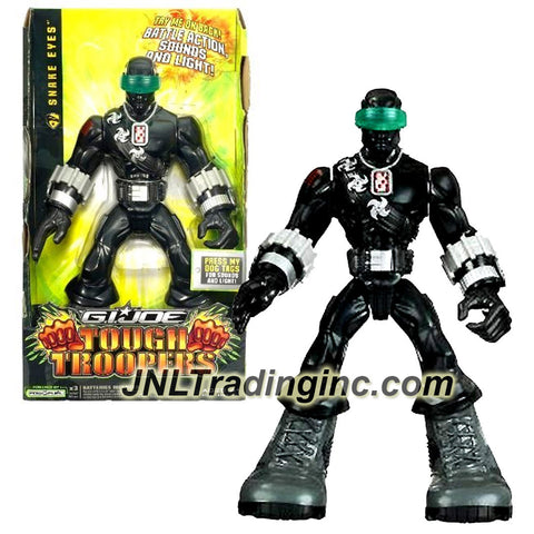 Hasbro Year 2009 G.I. JOE Tough Troopers Series 11 Inch Tall Electronic Action Figure - SNAKE EYES with Arm Chop Battle Action, Sounds and Light