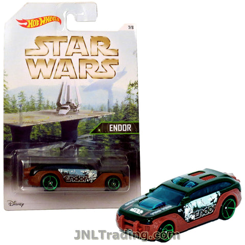 Hot Wheels Year 2015 Star Wars Series 1:64 Scale Die Cast Car Set 7/8 - Copper Color ENDOR HW PURSUIT DJL10