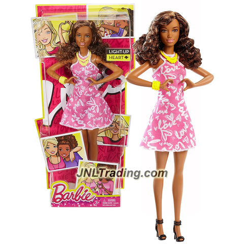 Mattel Year 2015 Barbie Light-Up Heart Series 12 Inch Electronic Doll - NIKKI DWY50 with Necklace and Bracelet