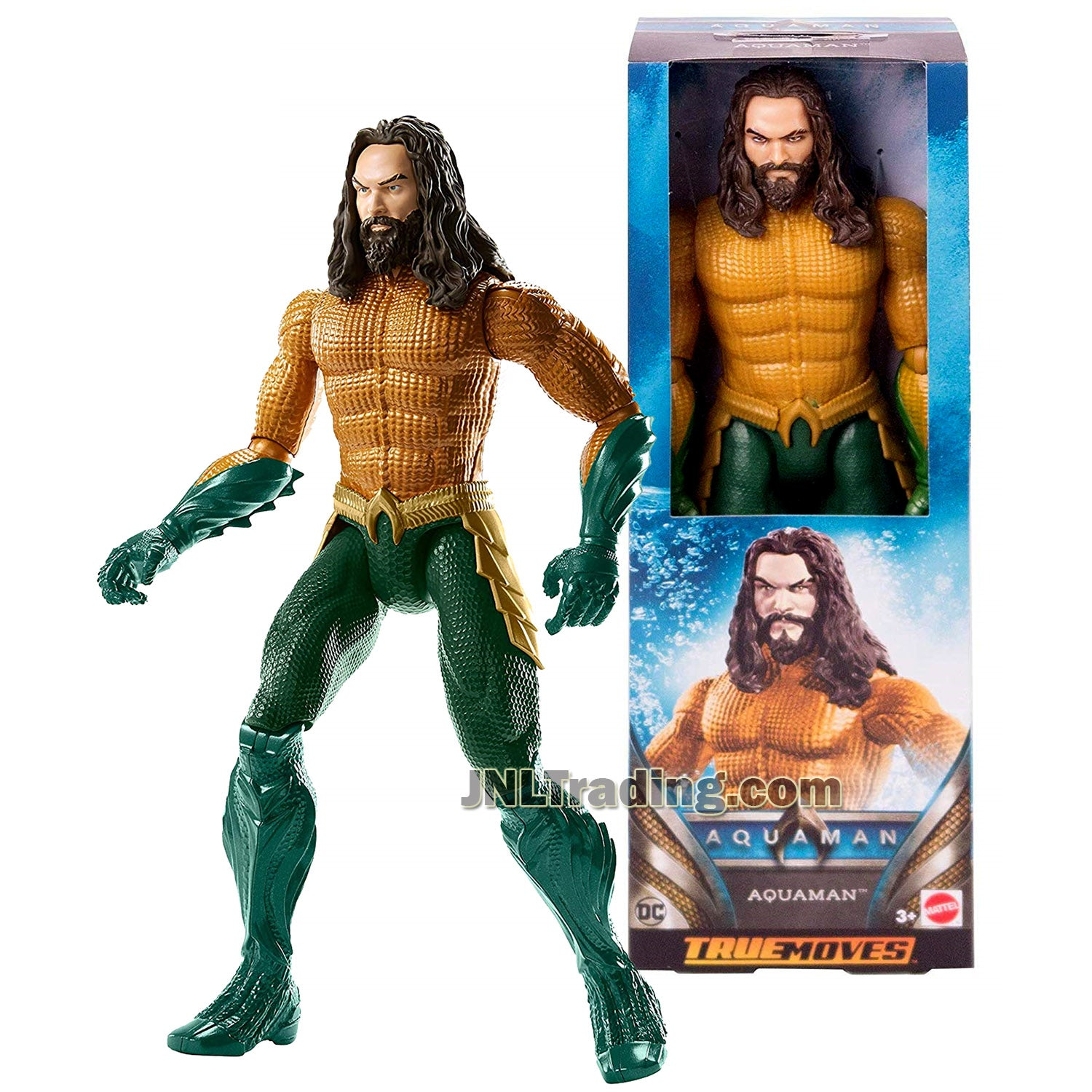 Dc Comics Year 2018 Aquaman Series 12 Inch Tall Figure - Aquaman Fxf91 With 11 Points Of Articulation