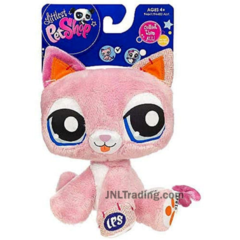 Year 2009 Littlest Pet Shop LPS 6 Inch Tall Plush Figure - Kitty Cat