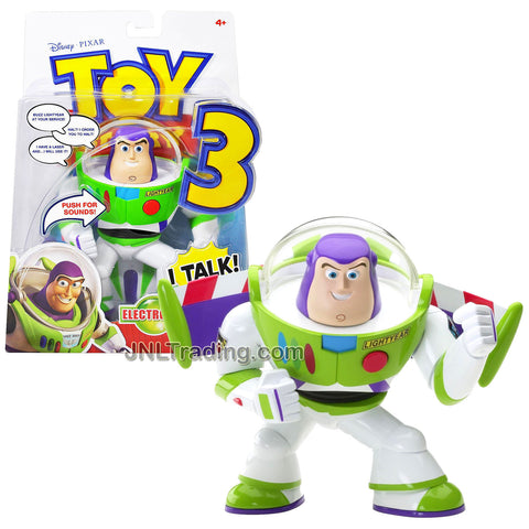 Year 2010 Toy Story 3 Movie Series 6 Inch Tall Electronic Deluxe Talking Figure - BUZZ LIGHTYEAR with Talking Sound and Detachable Wing