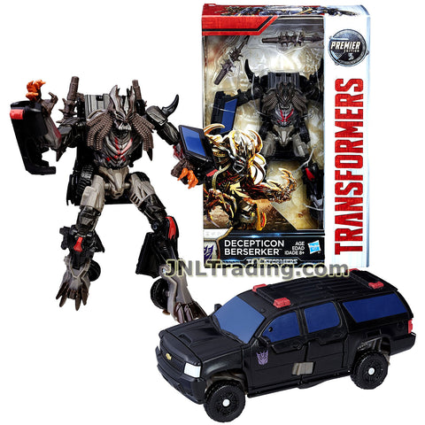 Transformers Year 2016 The Last Knight Movie Premier Edition Series Deluxe Class 6 Inch Tall Figure - DECEPTICON BERSERKER with 2 Spike Clubs (Vehicle: Chevy Suburban)