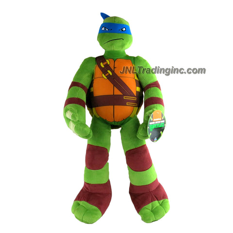 Playmates Year 2015 Nickelodeon Teenage Mutant Ninja Turtles LARGE 24 Inch Tall Plush Toy Figure - LEONARDO
