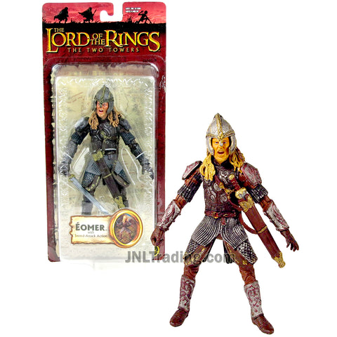 Year 2004 Lord of the Rings The Two Towers Series 6-1/2 Inch Tall Action Figure - Nephew of King Theoden EOMER with Sword Attack Action