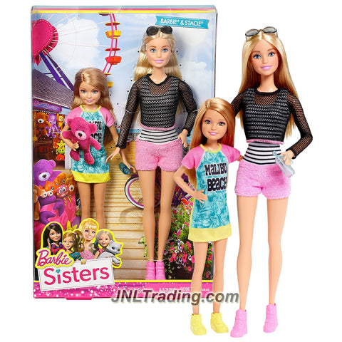 Mattel Year 2014 Barbie Life in the Dreamhouse Series 2 Pack 12 Inch Doll Set DLH76 - KEN in Light Blue Shirt & Blue Pants with BARBIE in Pink Dress with Black White Dots