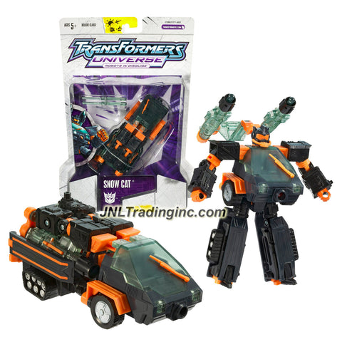 Hasbro Year 2005 Transformers Universe Series Exclusive Deluxe Class 6 Inch Tall Robot Action Figure - Decepticon SNOW CAT with 2 Hyper Power Missile Launcher and 2 Missiles (Vehicle Moe: Snowcat Truck)