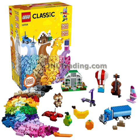 Lego Year 2017 Classic Series Set #10704 - CREATIVE BOX with Mixture of Classic Lego Bricks and Special Elements like Windows, Doors, Wheels and Eyes (Pieces: 900)