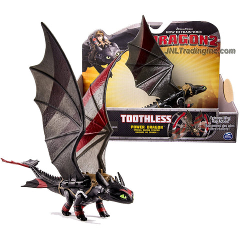 "Spin Master Year 2014 Dreamworks ""How to Train Your Dragon 2"" Series 9 Inch Long Figure - Power Dragon TOOTHLESS with Special Racing Stripes and Extreme Wing Flap Action"