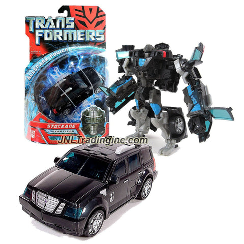 Hasbro Year 2007 Transformers 1st Movie All Spark Power Series Deluxe Class 6 Inch Tall Robot Action Figure - Decepticon STOCKADE with Lever Activated Punch Attack (Vehicle Mode: SUV)