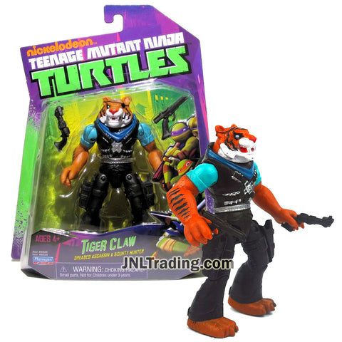 Year 2014 Teenage Mutant Ninja Turtles TMNT 5 Inch Tall Figure - Dreaded Assassin and Bounty Hunter TIGER CLAW with Pistols