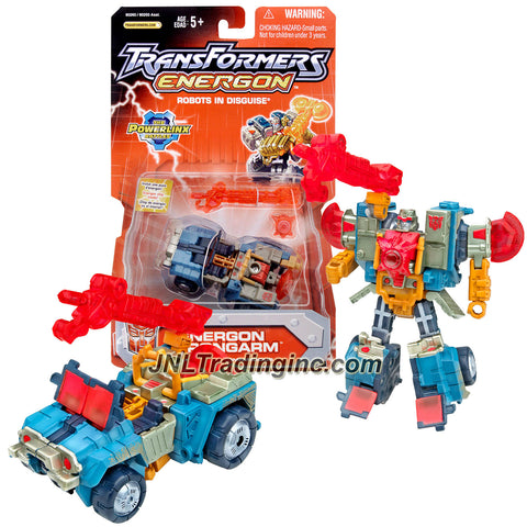 Hasbro Year 2004 Transformers Energon Series Omnicon Class 4 Inch Tall Robot Action Figure - Autobot ENERGON STRONGARM with Cannon Blaster and Chestplate (Vehicle Mode: Off Road 4x4 ATV)