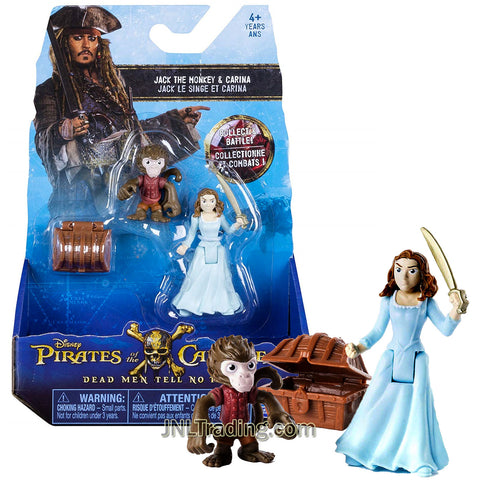 Pirates POTC of the Caribbean Dead Men Tell No Tales Series 2 Pack 3 Inch Tall Figure - Jack Sparrow and Ghost Crewman