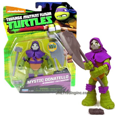 Playmates Year 2014 Nickelodeon Teenage Mutant Ninja Turtles 5 Inch Tall Action Figure : Be Immovable - Like a Mountain MYSTIC DONATELLO with Hammer and Ono Stone Axe