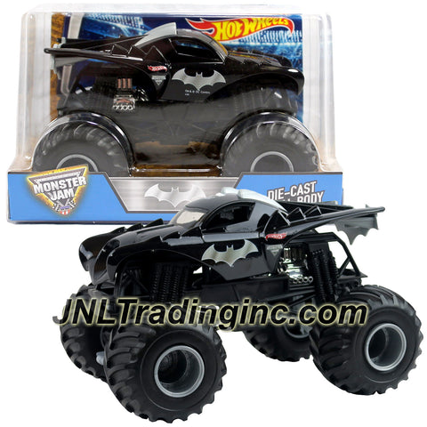 Hot Wheels Year 2016 Monster Jam 1:24 Scale Die Cast Monster Truck - 2 Times World Finals Racing Champion BATMAN (BGH29-0930)