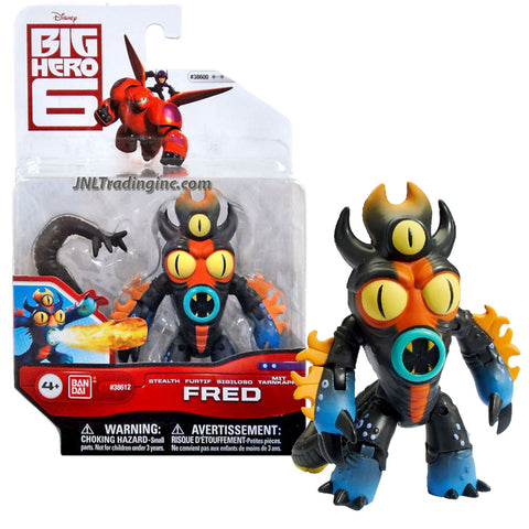 "Bandai Year 2015 Disney ""Big Hero 6"" Movie Series 4 Inch Tall Action Figure - STEALTH FRED in Kaiju Krogar Battle Suit with Removable Tail"
