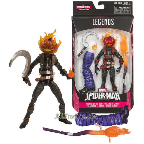 Year 2015 Marvel Legends Absorbing Man Series 6 Inch Tall Figure - Villains of the Night JACK O'LANTERN with Staff, Scythe, Bomb & Absorbing Man's Left Leg