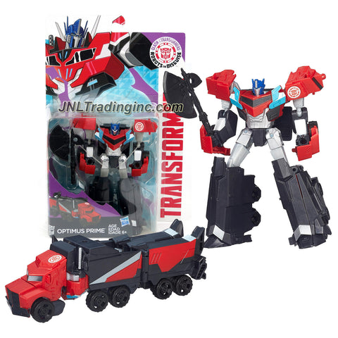 Hasbro Year 2015 Clash of the Transformers Series Exclusive Warriors Class 5 Inch Tall Robot Action Figure - Autobot OPTIMUS PRIME with Battle Axe (Vehicle Mode: Rig Truck)