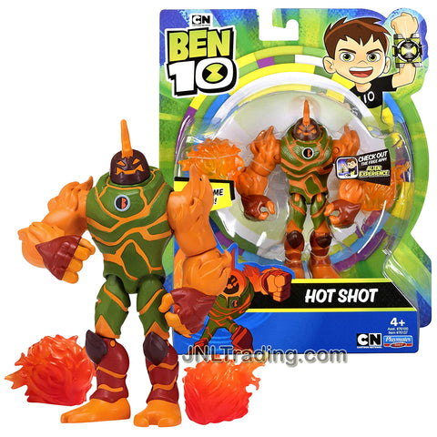 Year 2018 Cartoon Network Ben Tennyson 10 Series 5 Inch Tall Figure - HOT SHOT with Flame Blasts