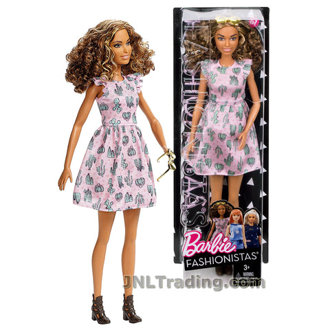 Barbie Year 2016 Fashionistas Series 12 Inch Doll - Tall Hispanic BARBIE DYY97 in Cactus Cutie Dress with Sunglasses