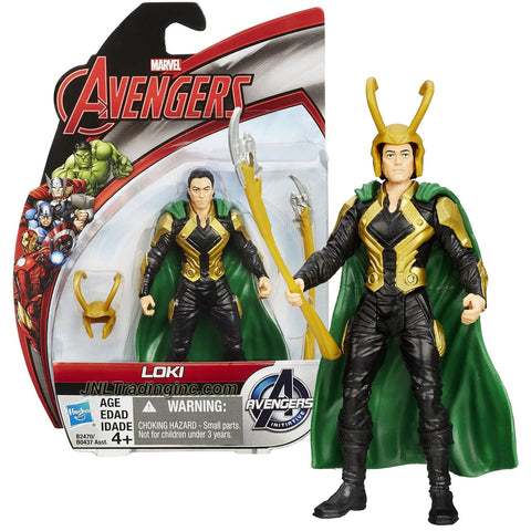 Hasbro Year 2015 Marvel Avengers Age of Ultron Series 4 Inch Tall Action Figure - LOKI with Helmet and Chitauri Scepter